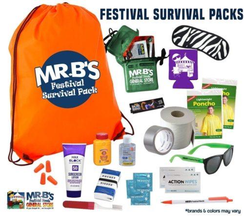 Festival Survival Packs