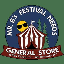 Mr. B's Festival Needs – General Store Logo
