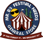 Mr. B's Festival Needs General Store Logo