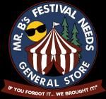 Mr. B's Festival Needs General Store Logo