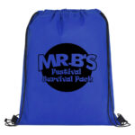 Blue Bag with Black Logo