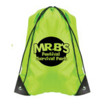 Lime Green Bag with Black Logo (Style 2)