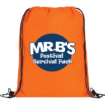 Orange Bag with Blue and White Logo