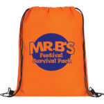 Orange Bag with Blue Logo