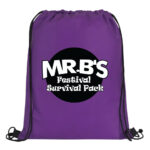 Purple Bag with Black and White Logo