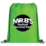 Lime Green Bag with Black and White Logo