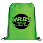 Lime Green Bag with Black Logo